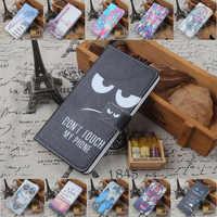 For Philips I928 Xenium W6610 W3500 W3568 W6500 W737 W7555 W8510 W8555 W732 i999 ex i966 PU Painted flip cover slot phone case