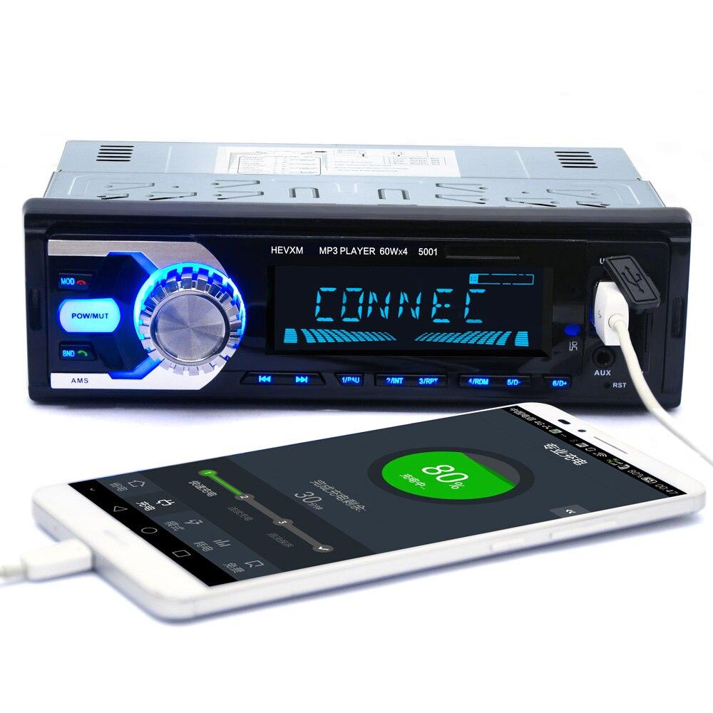 Voiture multifonction BT véhicule lecteur MP3 Autoradio 12 V Autoradio Bluetooth 1 din voiture stéréo lecteur AUX-IN FM W/télécommande