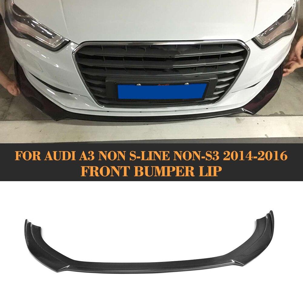carbon fiber front bumper diffuser lip for Audi <font><b>A3</b></font> standard bumper 2014 2015 2016