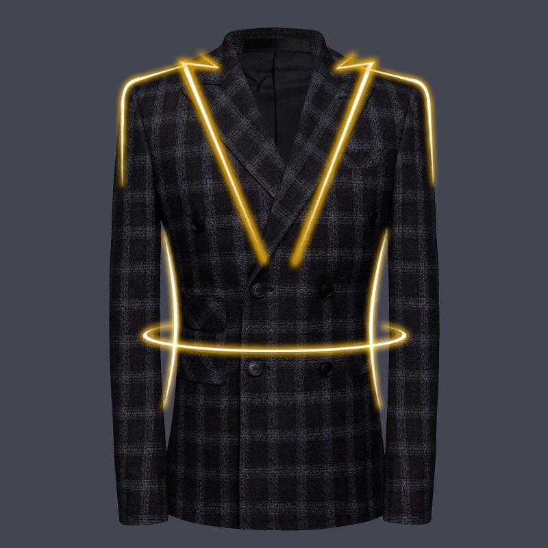 Erkek Kıyafeti'ten T. Elbise'de Yeni Ekose Takım Elbise erkek Siyah Damat Elbise setleri Kruvaze Resmi ceket + pantolon + yelek yüksek kaliteli ziyafet artı boyutu MLXL2XL 5XL'da  Grup 3