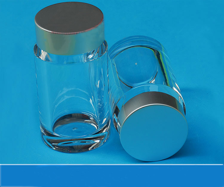 100ml high-grade transparent acrylic  empty medicine bottle,health care products bottles with electrochemical aluminum lid high quantity medicine detection type blood and marrow test slides
