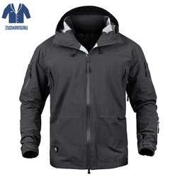 Военная Униформа Боевая форма одежды армия камуфляж водостойкие мягкие в виде ракушки ветровка пальто с капюшоном Охота Одежда
