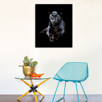 Free Shipping Black Leopard Print Oil Painting Animal Canvas Pictures For Home Living Room Wall No