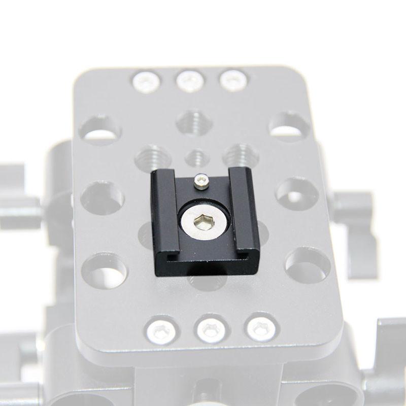 2PCS Cold Hot Shoe Hotshoe Adapter fr DSLR Rig Flash Light Microphone Blackmagic Cinema Foto Camaras Parts Accessories C0993 (4)