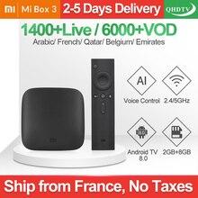 Xiaomi MI BOX 3 IPTV France Arabic Android TV 8.0 WIFI BT 4K