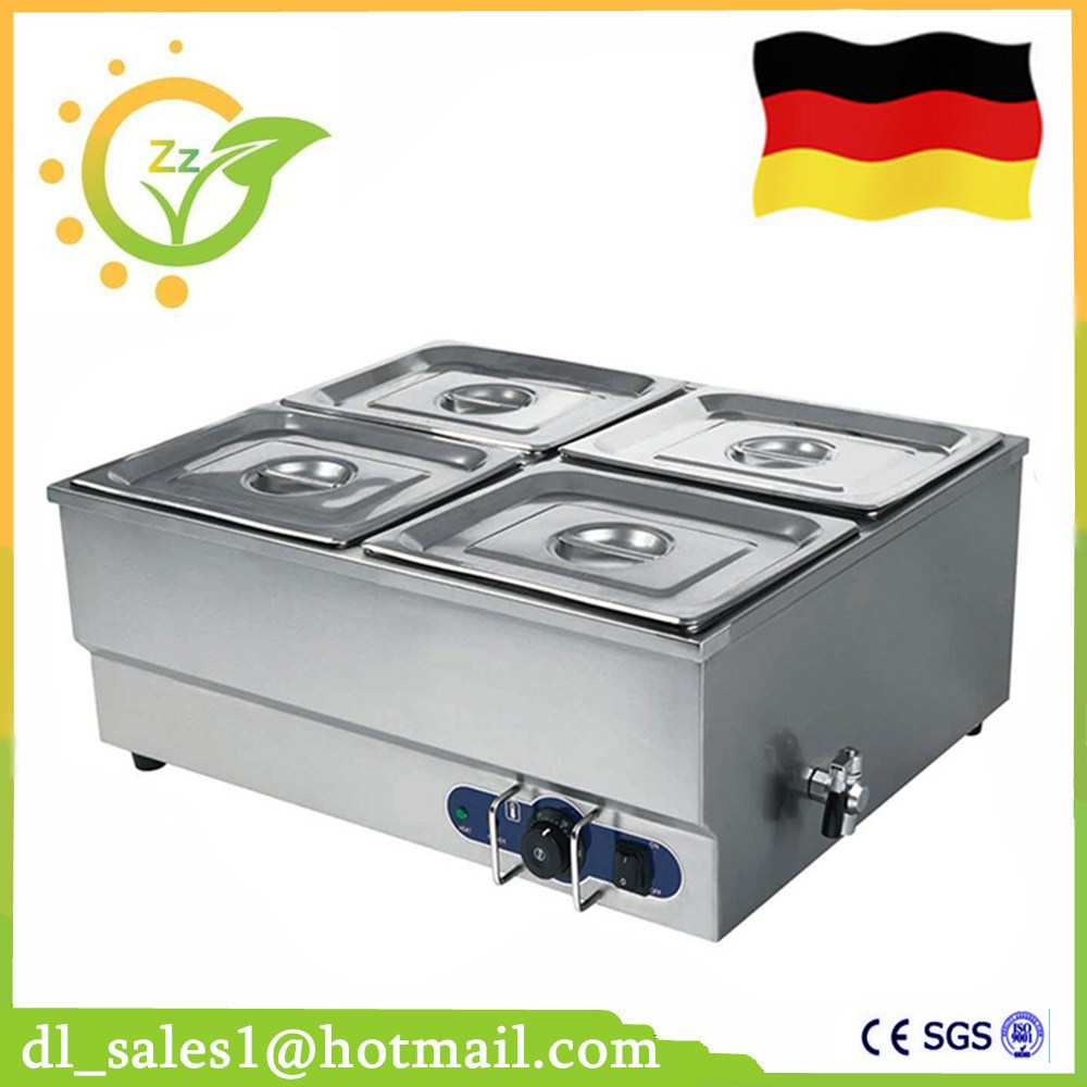 Best Sale Food warmer 1.5KW professional commercial kitchen equipment stainless steel electric countertop bain marie