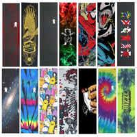 "Professionelle Pro Skateboard Griff band 9 ""x 33"" Multi Grafik Griptapes Für Roller Penny Bord Schleifpapier Skate Deck griffe"