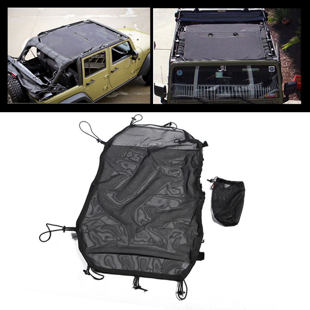 ФОТО Black Eclipse Sun Shade For Jeep Wrangler JK Sahara Sport Rubicon X & Unlimited