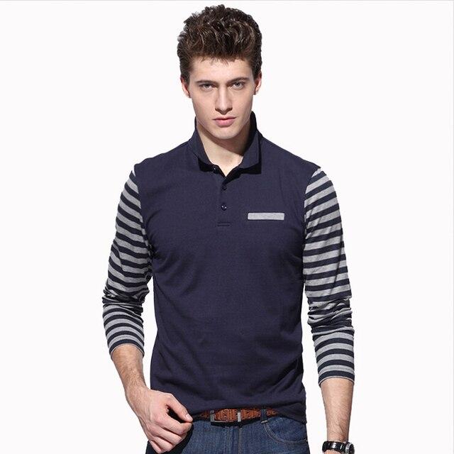 2017 Новый Polo Hombre Рубашка Мужская Мода Slim Fit Воротник рубашки С Длинным Рукавом Случайные Camisetas Masculinas Polo Мужчины Бренд Одежды