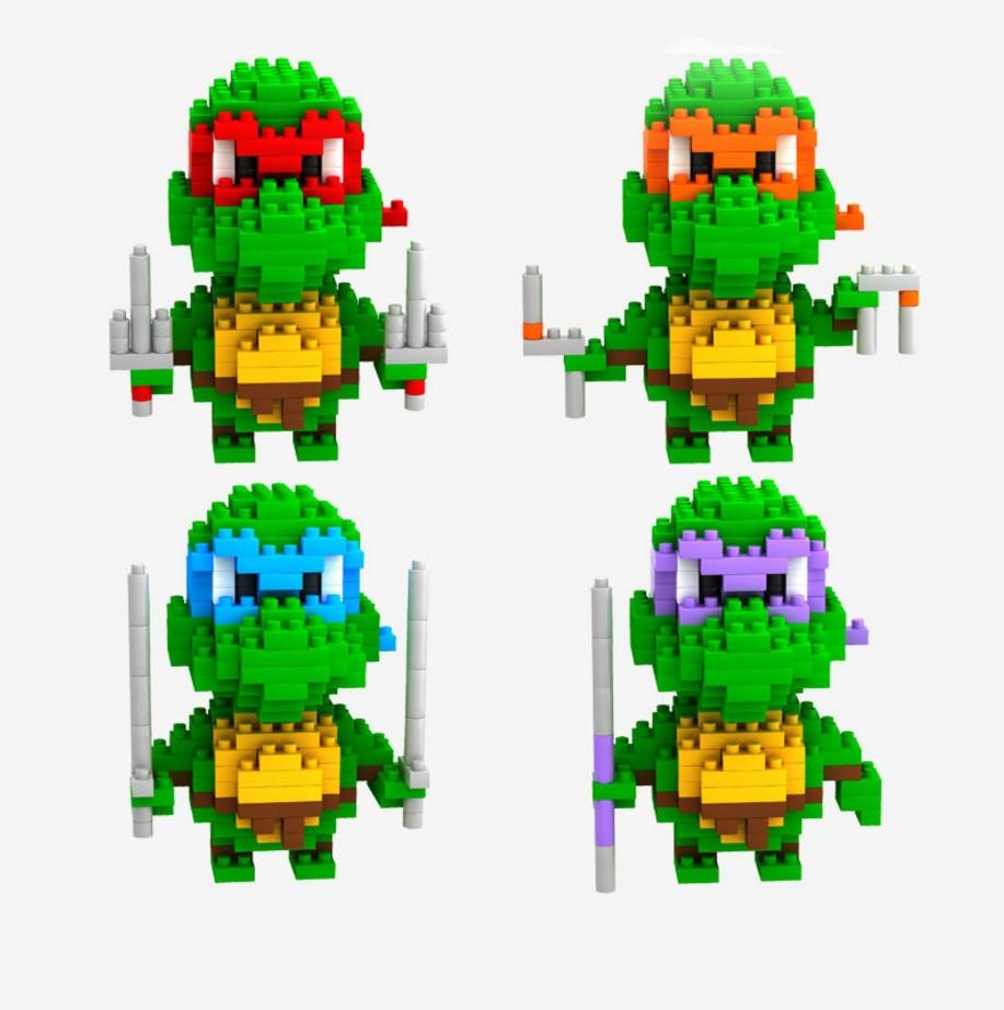 6 Pcs Set Leonardo Raphael Michelangelo Donatello Building Block Kids Toy 2018
