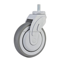 1 pcs Plastic swivel 5 inch light duty PU caster directional lock medical