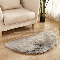 15 Colors Artificial Wool Sheepskin Hairy Carpet Faux Fur Non Slip Sofa Bedroom Mats Shaggy Warm Fur Area Rug Washable