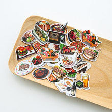 1pcs Kawaii Stationery Stickers cute BBQ pattern scrapbooking Posted It planner School journal memo Supplies(China)