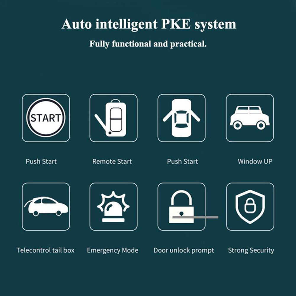 9 pièces/ensemble Auto démarrage à distance système d'alarme de voiture moteur Starline bouton poussoir démarrage arrêt SUV système d'entrée sans clé immobilisateurs de voiture - 4