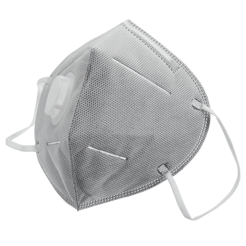 Safurance 30Pcs White Nonwovens Activated Carbor Respirator Fold Flat Valved Safety Face Dust Masks 50 Times Protection 50pcs high quality dust fog haze oversized breathing valve loop tape anti dust face surgical masks