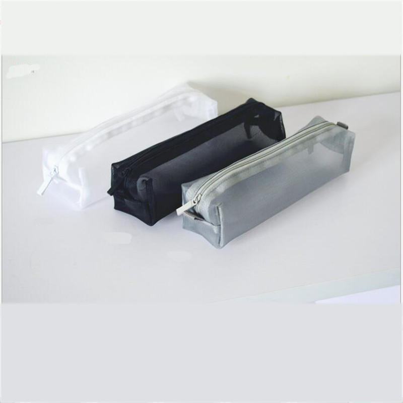 1pc Mini Women Mesh Cosmetic Bag Toothbrush Pencil Bag Lipstick Makeup Make Up Zipper Organizer Bag Light Clutch Case