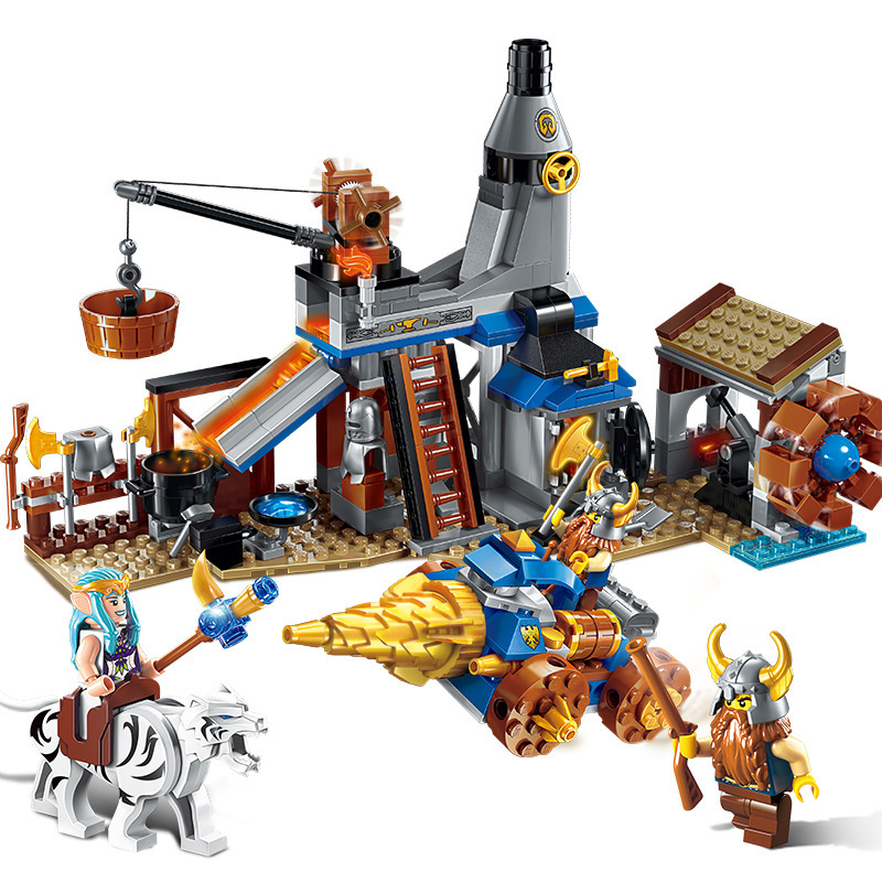ENLIGHTEN Nexo Waterwheel Castle Knights Blacksmith shop Building Blocks Set Bricks Model Kids Toys Gift Compatible Legoings недорого