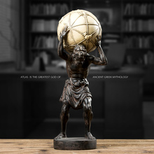 Greek Mythology Atlas Figurine Titan Resin Gift Vintage Home Decoration Accessories for Living Room Ornaments