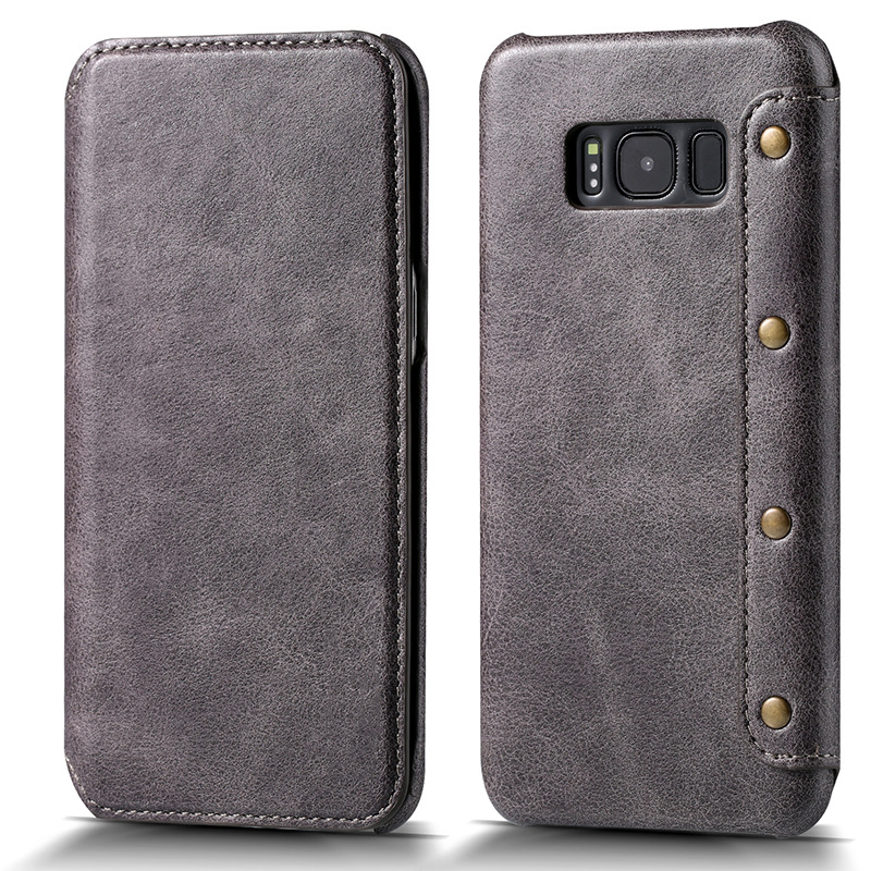 4 Colors new for Samsung Galaxy S8 Luxury wallet phone Bags pouch for Samsung S8 Plus Card Pocket Flip Cover free shipping