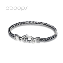 Vintage 925 Sterling Silver Foxtail Chain Bracelet for Men Boys 4 mm 18 20 cm Free Shipping foxtail