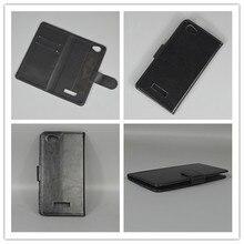 Crazy horse Флип кожаный чехол с отделением для кредитных карт и функцией подставки для Fly FS505 Nimbus 7