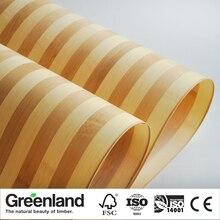 Bamboo Veneer Flooring DIY Furniture Raw Natural Material Chair Cabinet Doors Outer Skin Size 250x42 Cm Zebrano Bamboo Veneer