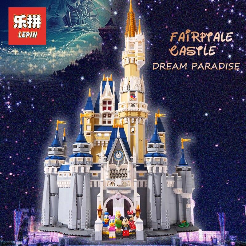LEPIN 16008 Creator Cinderella Princess Castle City 4080pcs Model Building Block Children Toy Gift Compatible LegoINGlys 71040