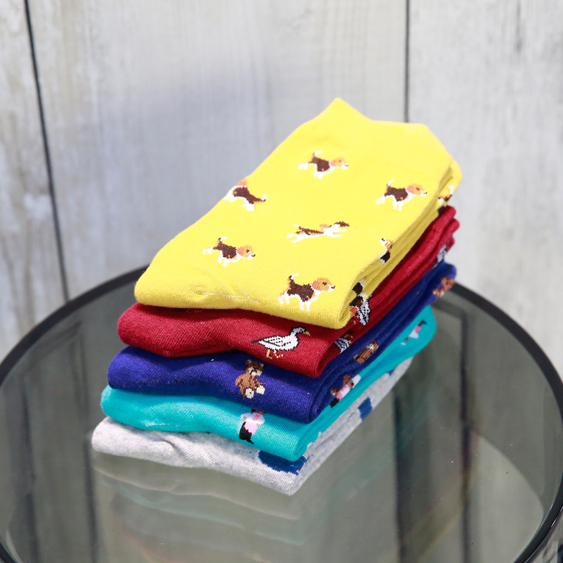 Moonbiffy Winter Autumn New Women In Tube Sock Dog Animal Women Socks Fashion Cotton EUR35-40