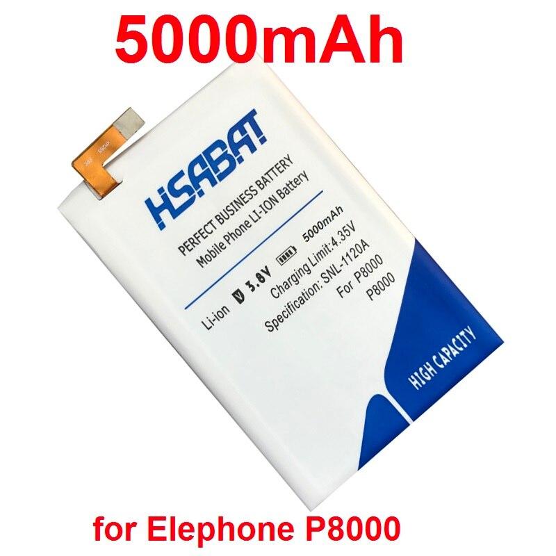 imágenes para HSABAT 100% Nuevo de Mayor Capacidad 5000 mAh Batería para Elephone P8000 Baterías envío libre