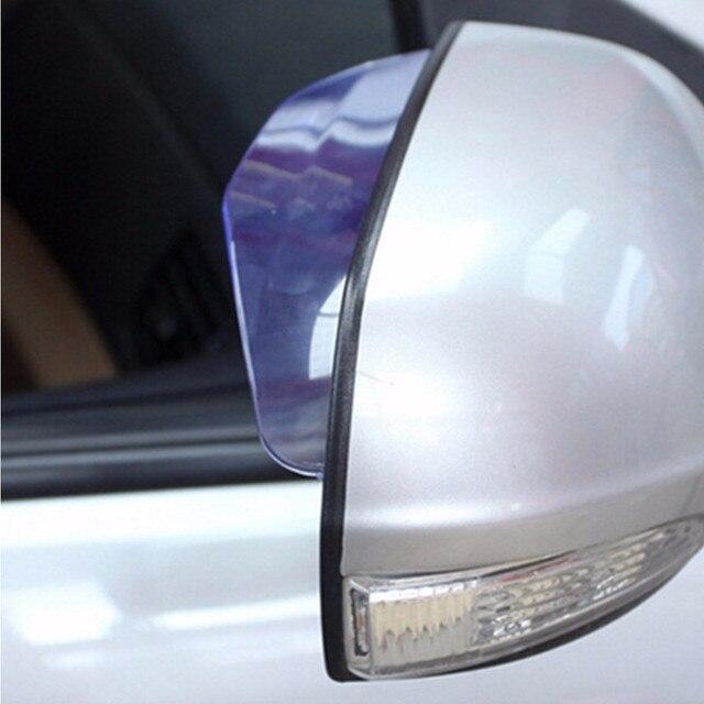 Автомобильное зеркало заднего вида Дождь лезвия автомобильное заднее зеркало бровь дождевик для ford focus 2 3 hyundai solaris Mazda 2 3 6 CX-5 шт.