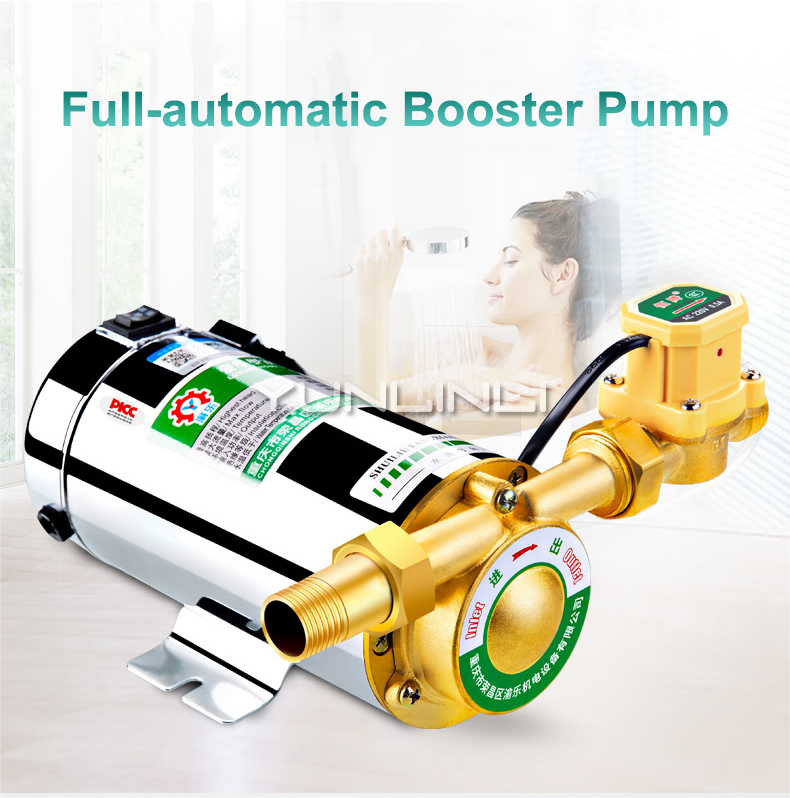 Household Automatic Tap Water Booster Pump Solar Water Heater Silent Small Pipe 220v 280W Pressure Pump RGZ15-20 100w 220v shower booster water pump