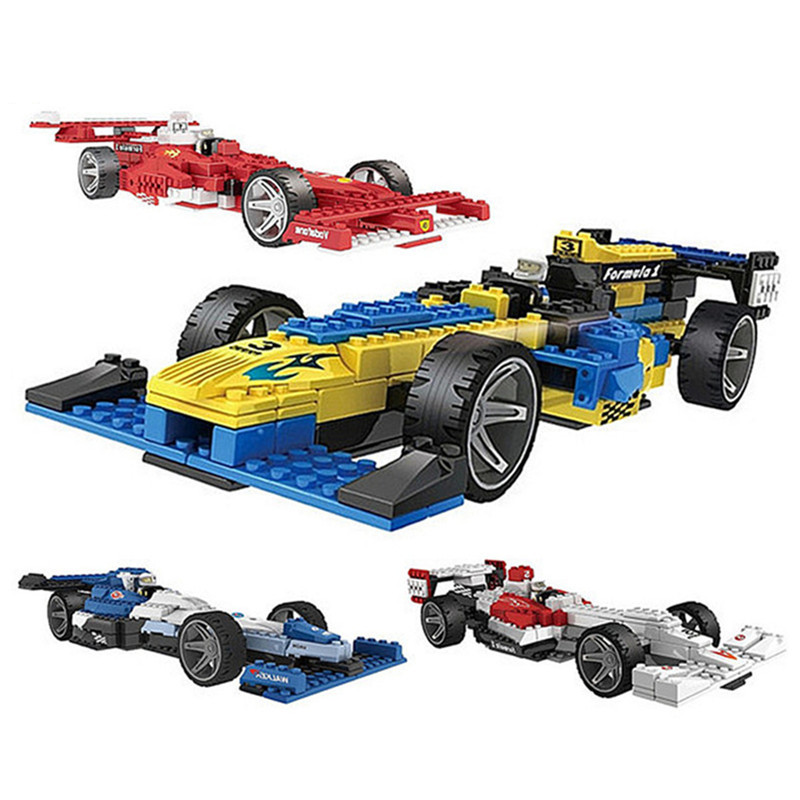 Formula One Racing Models & Building Toy F1 Cars Model Assembly Blocks Vehicle Toys For Children Boys formula one