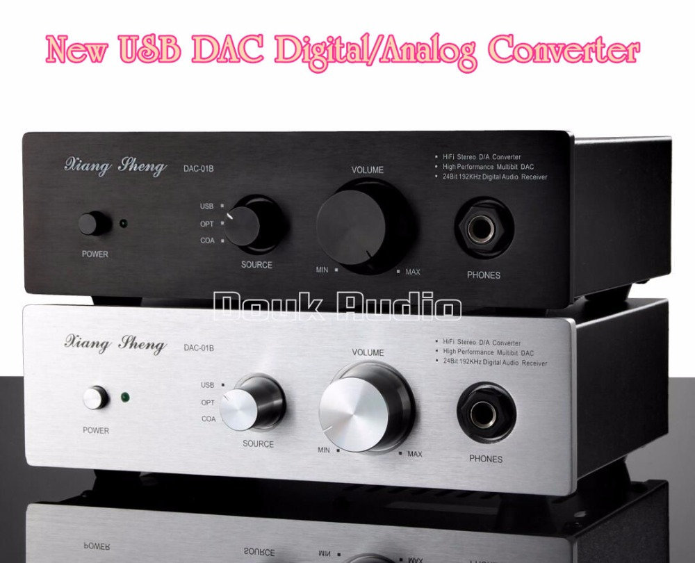 Music hall Xiangsheng DAC-01B USB DAC Digital/Analog Converter 24BIT/96K Audio Decoder/Headphone/Pre-Amplifier free shipping 40pcs lot 4580 4580 sop 8 authentic original