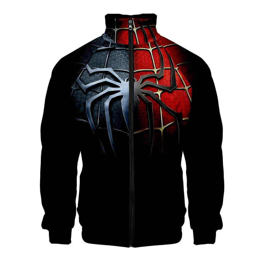 スパイダーマンコスプレジッパートレーナーカジュアルパーカー新ファッションクール Highstreet 春服スーパー hero トレーナー