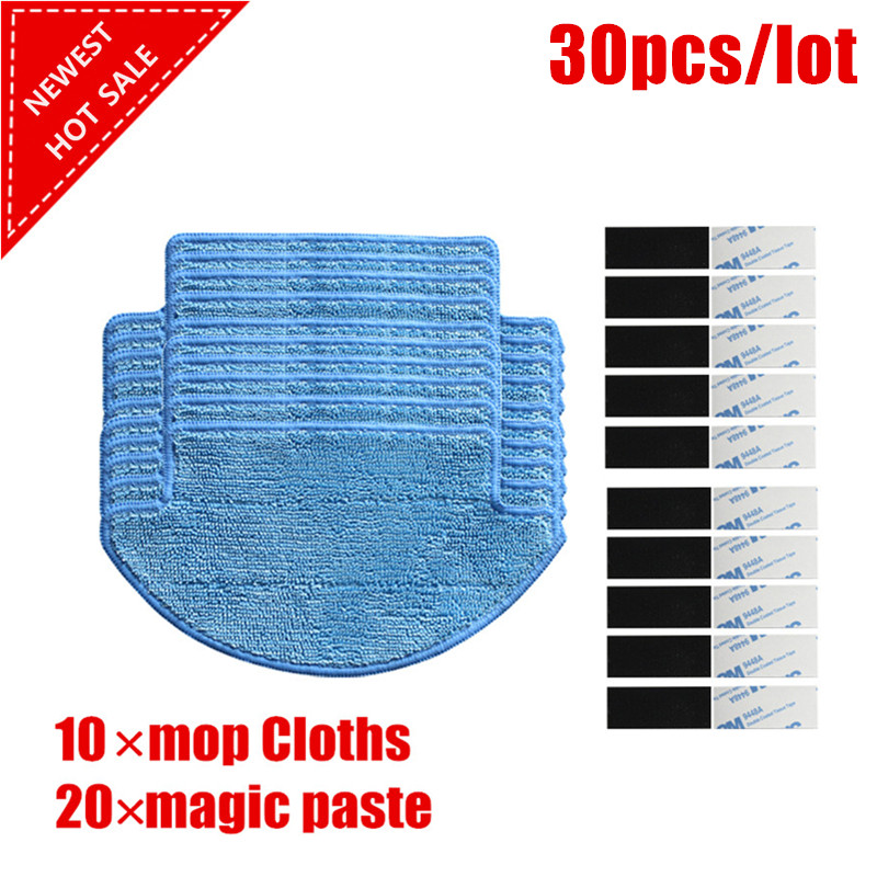 все цены на 30 pcs/set Xiaomi Mi Robot Vacuum Cleaner Parts kit ( mop Cloths*10+magic paste*20) онлайн