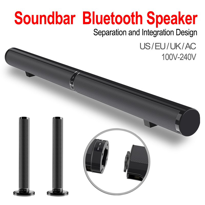 Multifunction Sound Bar Bluetooth Speaker Foldable and Detachable Home Theater TV Sound Stereo Soundbox Support TF Card-in Combination Speakers from Consumer Electronics    1