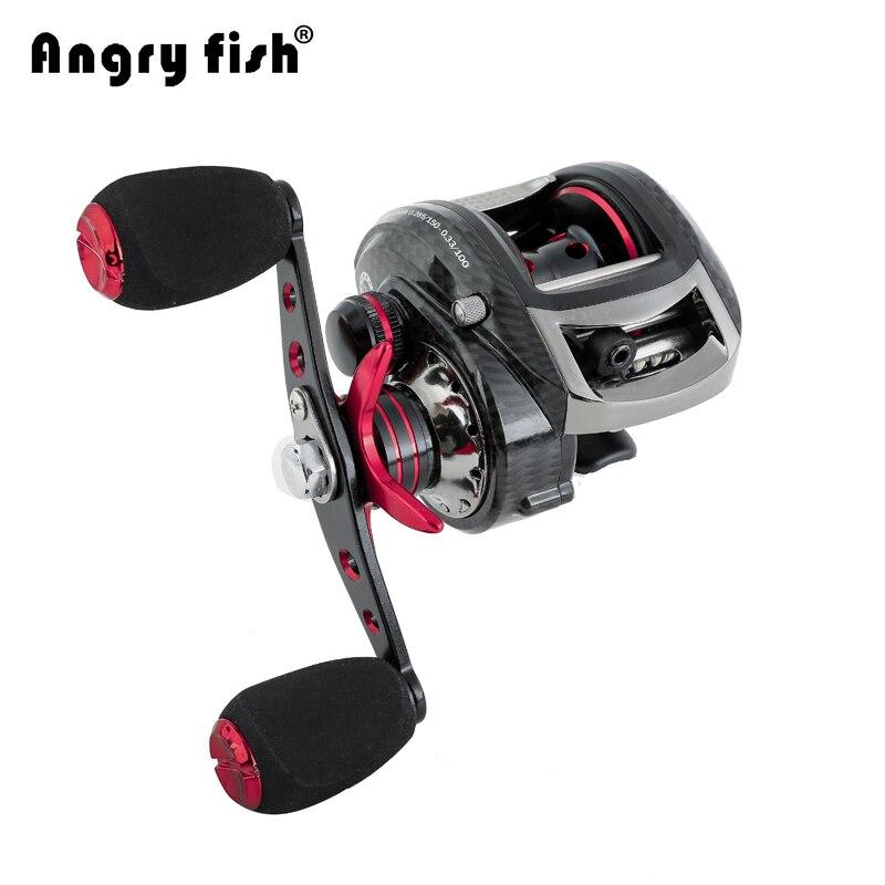 Angryfish Destra Sinistra Baitcasting Reel Fishing Lure 6.3: 1 Bobina di Metallo Bobine 219g