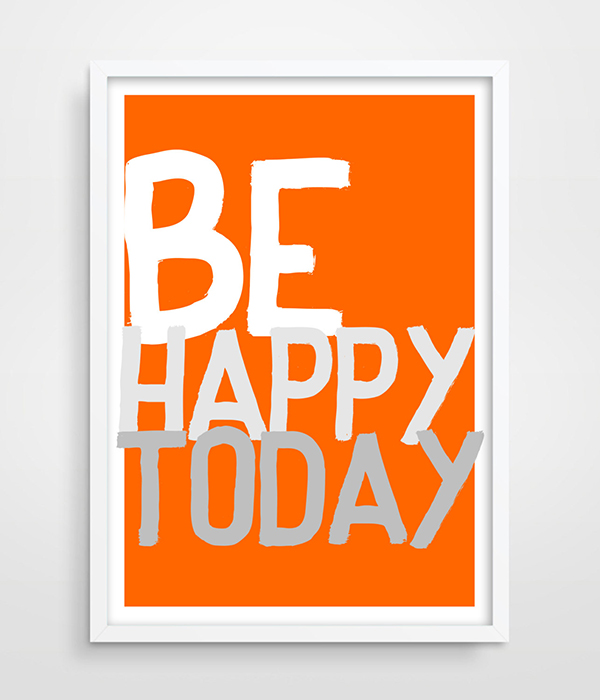 Typography Poster Print Motivational quote home decor picture Wall Decor  Bedroom Wall Art Decor Motivational Quote Vivid Orange