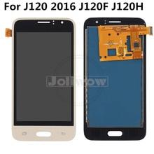 Can Adjust Brightness  J1 2016 LCD For Samsung J1 2016 Display J120 J120F J120M J120H LCD Digitizer Touch Screen Assembly J120f aaa quality for samsung galaxy j120 lcd j1 2016 j120m j120f j120l lcd display screen assembly for samsung j120 j120f display