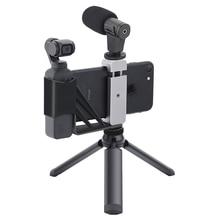 Dla Osmo kieszonkowy składany uchwyt do telefonu Adapter klip Selfie Mount metalowy statyw do DJI Pocket 2 kardana ręczna akcesoria do aparatu