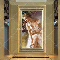 Large Canvas Paintings Sexy beauty Modern Body Handpainted Modern Art Wall Home Decor Canvas oil painting Girl Sexy (No Frame)