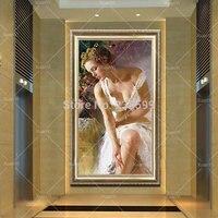 Tranh Canvas lớn vẻ đẹp Sexy Cơ Thể Hiện Đại Handpainted Nghệ Thuật Hiện Đại Tường Trang Trí Nhà Canvas sơn dầu Cô Gái Sexy (không có Khung)