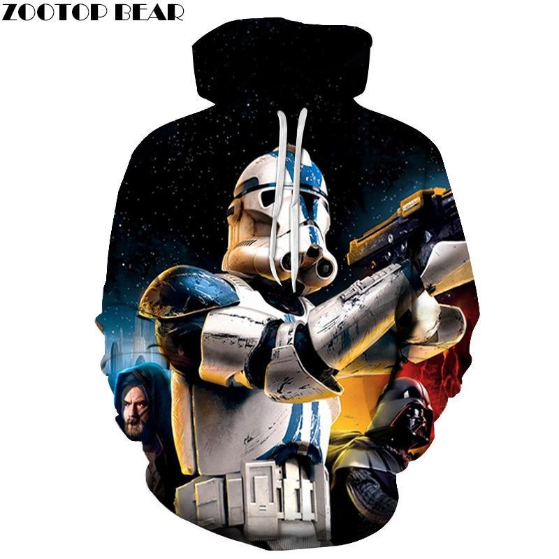 Starry Sky Star Wars Men's Hoodies Long Sleeves Spring Sweatshirts Tops Cotton Casual Tracksuits 3D Print Drop Ship ZOOTOP BEAR