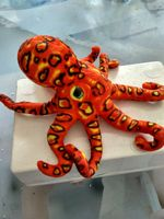 New Creative Plush Octopus Toy New Orange Octopus Doll About 36x32cm