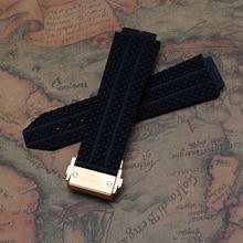 Черный ремешок для часов специальные для бренда с желтого золота пряжка развертывания нержавеющей стали застежка 25 мм луг 29 мм пряжка 22 мм
