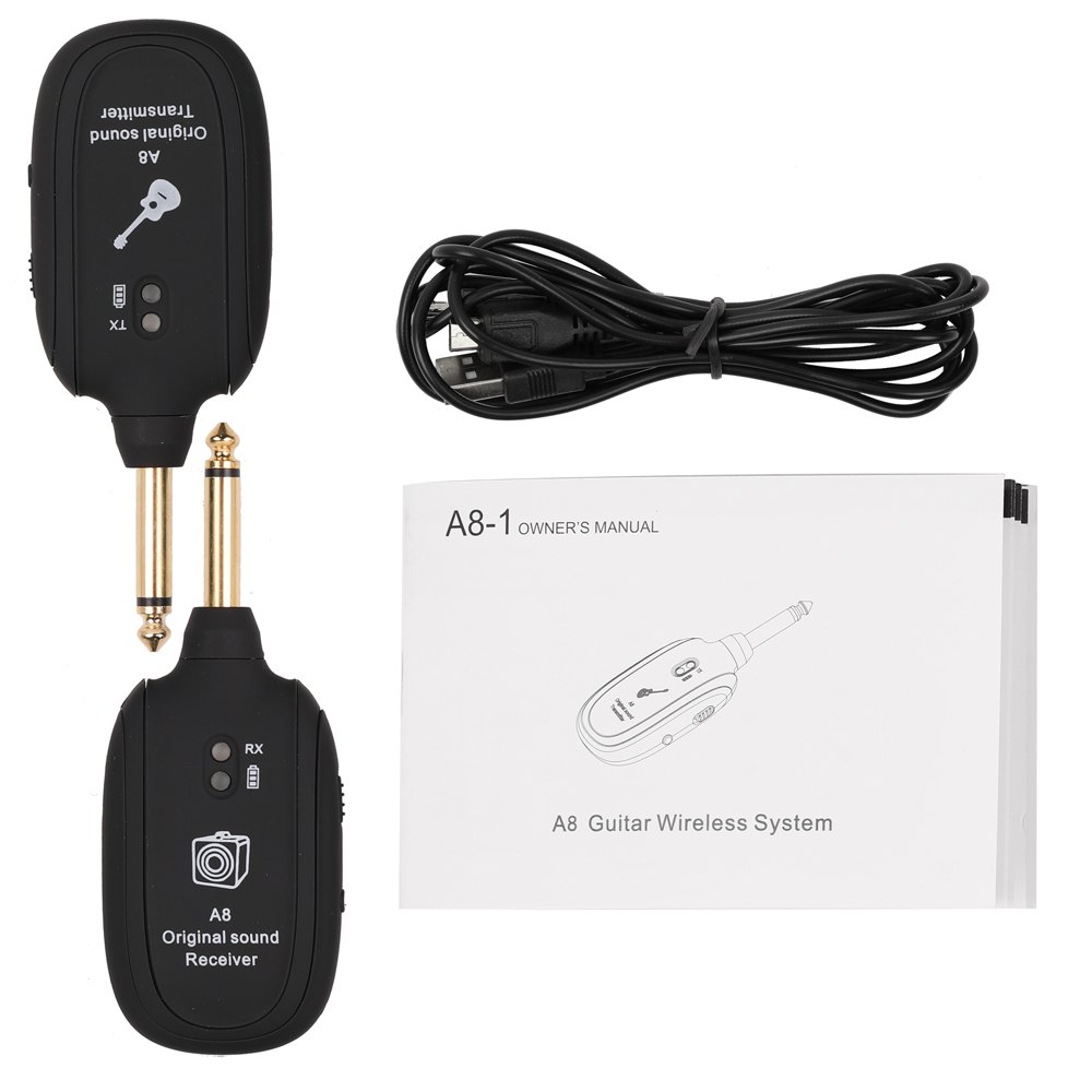 a8 uhf wireless guitar transmitter receiver set 730mhz 50m range guitar wireless transmitter for. Black Bedroom Furniture Sets. Home Design Ideas