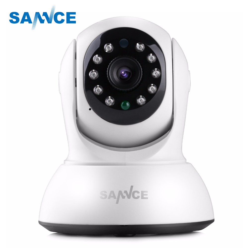 SANNCE Mini HD 720P Wireless IP Camera Smart WiFi Security Camera P2P Onvif Baby Monitor 720P Network CCTV Surveillance Camera 1mp mini camera ip wireless 720p hd smart 180 panoramic network mini security p2p camera home cctv surveillance ip camera