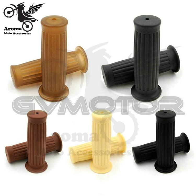 5 color available rubber motorcycle handlebar 7/8 22mm universal motorbike grip for Harley Davidson handle bar moto handle gel