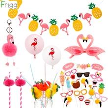 FRIGG Flowers Artificial Grass Table Skirt Hawaiian Party Decoration Luau Wedding Flamingo Decor Supplies