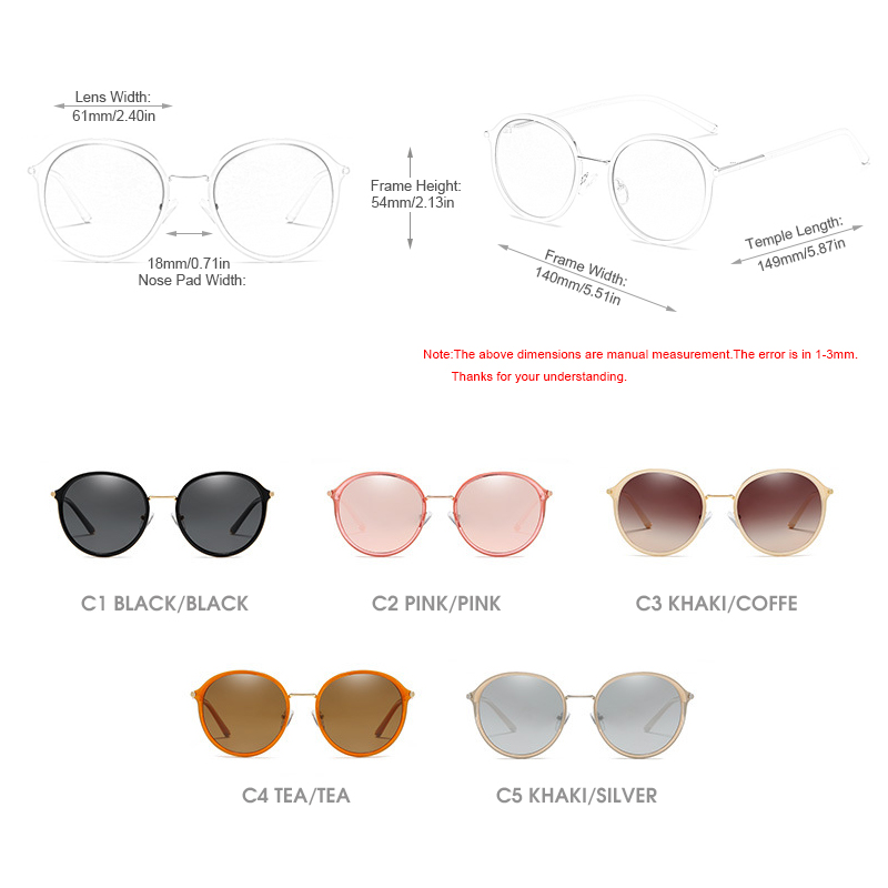 3533e3833bc9 SUNWEAR 2019 New Luxury Round Women Polarized Sunglasses Brand Design Metal  Frame Ladies Sun Glasses Mirror Pink Eyewear Oculos-in Women's Sunglasses  from ...